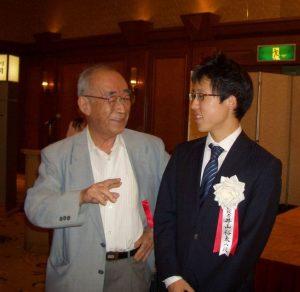 名人戦宝塚対局の前夜祭にて (2009年9月23日)
